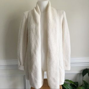 Merona white thick knitted cardigan Sz L